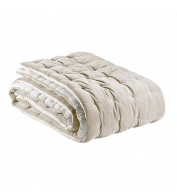 Copriletto Elise beige e bianco trapuntato 240x260cm - Vivaraise - Nardini Forniture