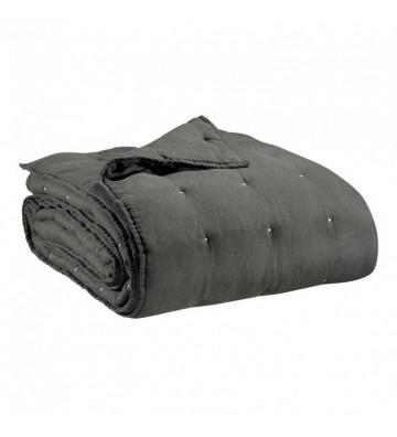 Copriletto Zef grigio trapuntato 180x260cm - Vivaraise - Nardini Forniture