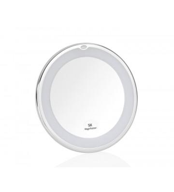 Specchio ingranditore da bagno con luce led e ventosa Ø18x20 cm - Andrea House - Nardini Forniture
