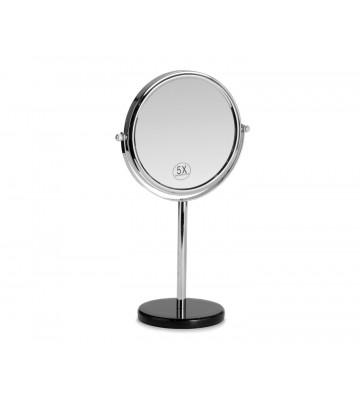 Specchio ingranditore con base in marmo nero - Andrea House - Nardini Forniture