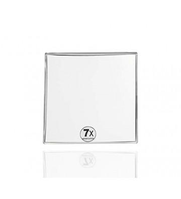 Specchio ingranditore a ventosa quadrato argento 15,5x15,5cm - Andrea House - Nardini Forniture