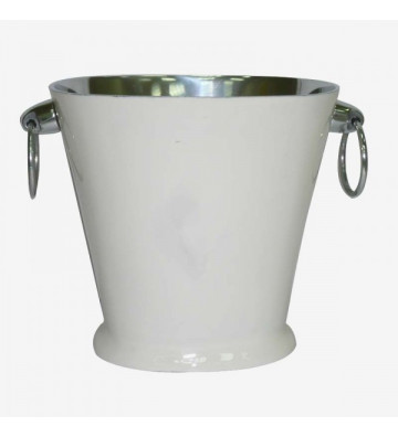 Glacette in acciaio bianca e argento 25,5x21x23,5 cm - Nardini Forniture