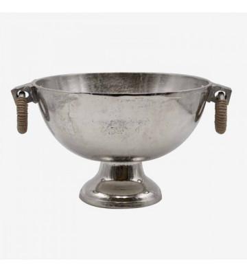 Glacette in argento e rattan 36x28x19cm - Nardini Forniture