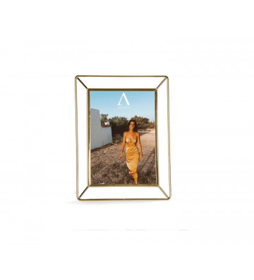 Cornice in metallo oro e vetro 13x18 cm - Andrea House - Nardini Forniture
