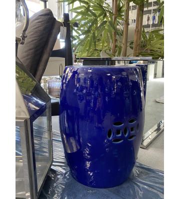 Pouf in ceramica blu - Nardini Forniture