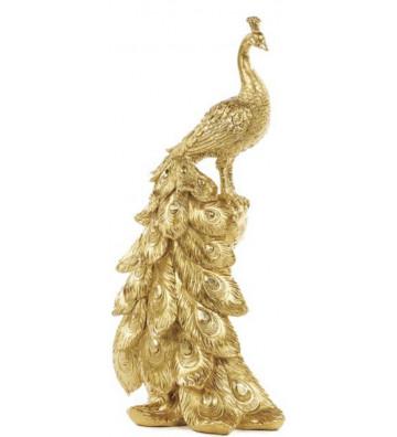Decorazione pavone oro 31cm - Goodwill - Nardini Forniture
