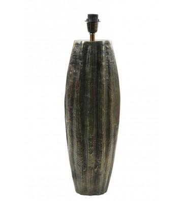 Lampada Barto bronzo antico. Base lampada di forma ovale in metallo ad effetto rigato light and living. Dimensioni: 20x13x65cm