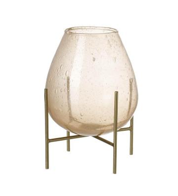 Vaso Lucy con vetro bolla rosa H250x180mm - light&living