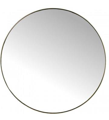 Specchio in metallo dorato dal diametro di 116cm. Specchio tondo oro. Diametro: 2x116x116cm