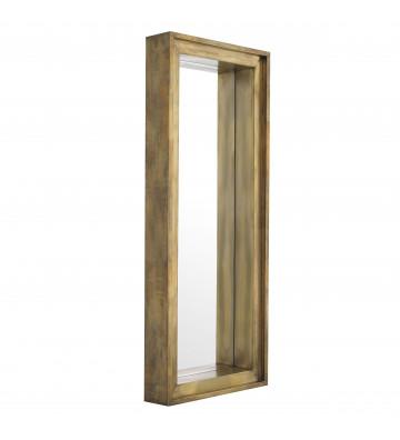 Specchio rettangolare col. oro tridimensionale modello Magenta Eichholtz. Dimensioni: 200x80x20cm